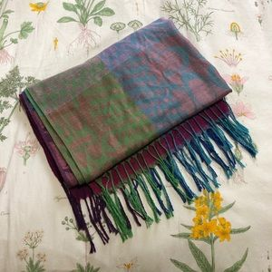 Multicoloured Coach Monogram Print Scarf